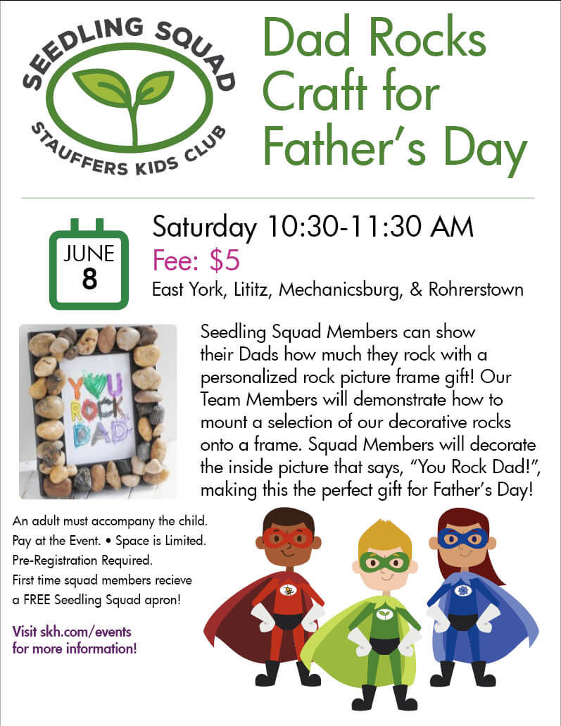 seedling squad fathers day event poster