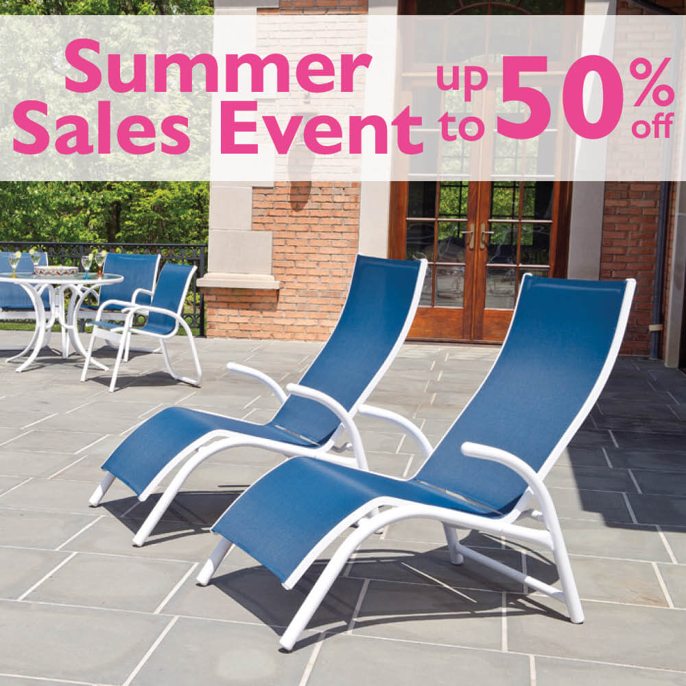 summer patio sales event